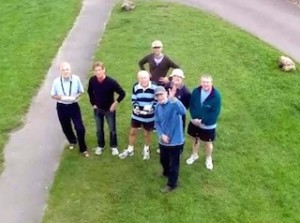 Group photo from Brian's drone on Aldbourne Green
